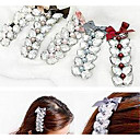 Women's Shinning Pearl Bowknot Hair Clip