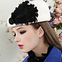 Women's Adjustable Vintage Shell Tweed Wool Beret Hat