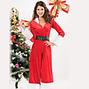 Graceful Style Long Avec Red Hat Velvet Costumes de Noël (3 Pieces)