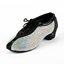 Leatherette / Rhinestone Upper Latin / Salsa Dance Shoes For Kids / Men