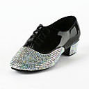 Patent Leather / Rhinestone Upper Latin / Salsa Dance Shoes For Kids / Men