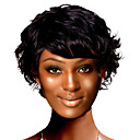 Capless Short Top Grade Synthetic Japanese Kanekalon Curly Wig Full Bang