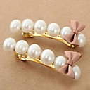 Women's Bowknot Pearl Hair Clip(5.82*1.85cm,Sell by Single Piece)