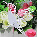 Laser-cut Bird Wedding Place Card For Wine Glass Card (Set of 12)
