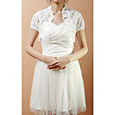 Short Puff Sleeve Lace Wedding/Evening Jacket/Wrap (More Colors)