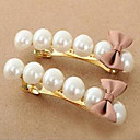Women's Bowknot Pearl Hair Clip(5.82*1.85cm)