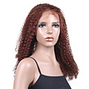 "New Glue-less Cap With Combs Jerry Curly 20"" Auburn 100% Indian Remy Lace Wig"