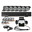 8 CH Home Security Surveillance Camera System (6 Warterproof Night Vision-camera)
