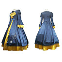 Cosplay Costume Inspired by Vocaloid Kagamine Rin Blue And Yellow Dress