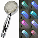 Contemporary 7 Colors Changing LED Handle Shower Head Chrome Finish