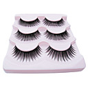 3Pair Black Fiber eyelash Sexy Girl False Eyelashes