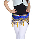 Dancewear Velvet With Coins/Beading Performance Belly Dance Belt For Ladies More Colors