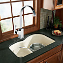 Solid Brass Contemporary Single Handle Kictchen Faucet-Chrome Finish