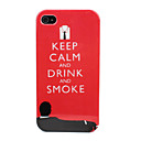 Keep Calm Design Man Pattern Hard Case for iPhone 4/4S