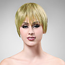 100% Human Hair Short Blonde Straight Hair Wig
