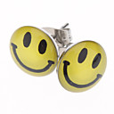 Happy Face Stainless Steel Earrings