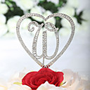 "Gorgeous Rhinestone ""W""&Heatr Wedding Cake Topper"