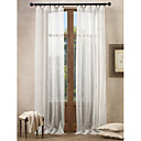 (Two Panels) Classic White Solid Sheer Curtains