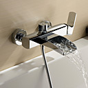 Sprinkle by Lightinthebox - Chrome Finish Single Handle Wall Mount Waterfall Bathtub Faucet (Hand Shower not included)