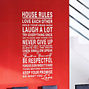 House Rules Art ord Wall Stickers