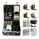 4 Guns Complete Empaistic Tattoo Machine Set with LCD Power Supply