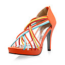 Leatherette Upper Stiletto Heel Gladiator Sandals More Colors Available
