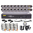 MHK®-16 Channel One-Touch Online CCTV DVR System(16 Outdoor Warterproof Camera)