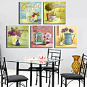 Stretched Canvas Print Still Life Classic Style Set of 5 1301-0156