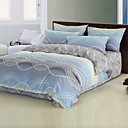 Wave Reactive Print Full / Queen 4-Piece Duvet Cover Set