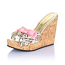 Elegant Plastic Wedge Heel Wedges With Bowknot/Crystal Party / Evening Shoes
