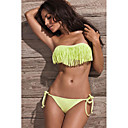Women's Bandeau Strapless Green Acacia Swimwear