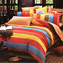 Colorful Cotton Full 3-Piece Duvet Cover Set