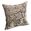 Ancient China Map Cotton/Linen Decorative Pillow Cover