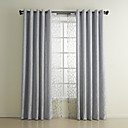 (Two Panels) Classic Jacquard Geometric Energy Saving Curtain Set