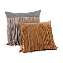 Set of 2 Tassel Design Woolen Cloth Decorative Pillow Cover