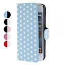 Dot Pattern PU Leather Case with Stand for iTouch 5 (Assorted Colors)