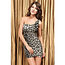 Women's Leopard Flower Black-white Dress(Length:70cm Bust:86-102cm Waist:58-79 Hip:90-105cm)