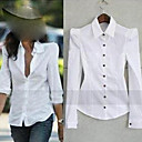 Lady Fashion Pad-shoulder Shirt