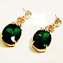 Sexy y extravagante Pendientes de piedras preciosas