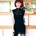 Lace Mock Donna Mini Abito collo (Slim Fit)