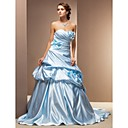 robe de bal sweetheart train chapelle robe de mariée en satin