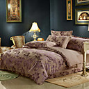 Zoe Jacquard Full / Queen 4-Piece Duvet Cover Set