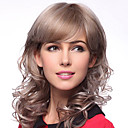 100% Human Hair Capless Medium Curly Hair Wigs