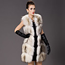Collarless Raccoon Fur Casual/Party Vest (More Colors)
