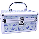 Aluminium Alloy Double-deck Princess Lockable 20*13*11cm Cosmetic Box