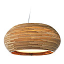 25W Rustic Pendant Light with Globe Paper Shade in Lantern Design
