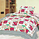 3PCS Animal Pattern Cotton Queen Size Quilt Set