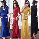 Women's Casual Suit (Hoodie & Maxi Skirt Included)