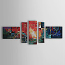 Hand Painted Oil Painting Abstract Set of 5 1303-AB0408