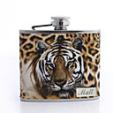 Gepersonaliseerde Tiger Design 6-oz Flask
